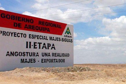 Arequipa: ¿pasará el manejo de Majes Siguas II al Ministerio de Agricultura?