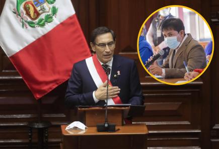 Presidente Vizcarra aludió a gobernador de Arequipa en su Mensaje a la Nación