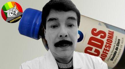 Engañoso: dióxido de cloro no es recomendado para coronavirus como afirma Alfredo Zegarra