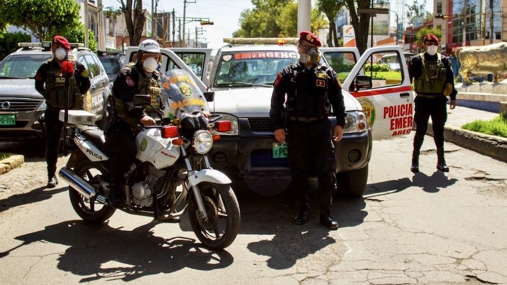 arequipa policias comisarías pruebas rápidas