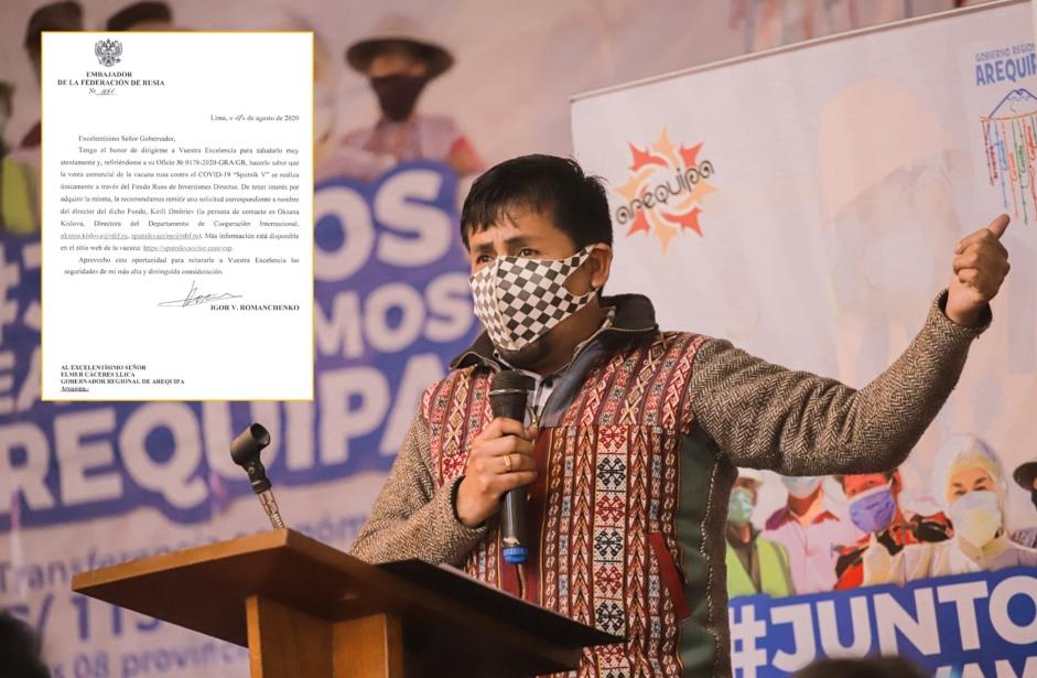 Arequipa: Esta fue la respuesta del Gobierno de Rusia al gobernador Cáceres Llica