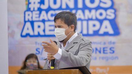 Gobernador de Arequipa pide que se levante la cuarentena en la región