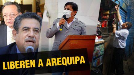 Piden fin de la cuarentena  |  Al vuelo, noticias desde Arequipa