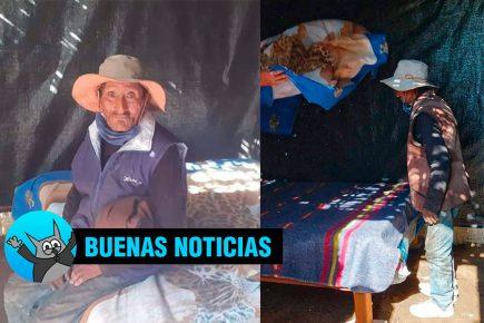 Policías construyeron habitación para que anciano no pase frío (VIDEO)