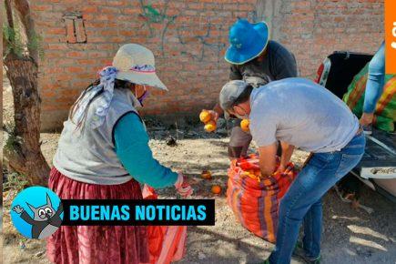 Dos toneladas de alimentos llegan a lugares más alejados de Arequipa