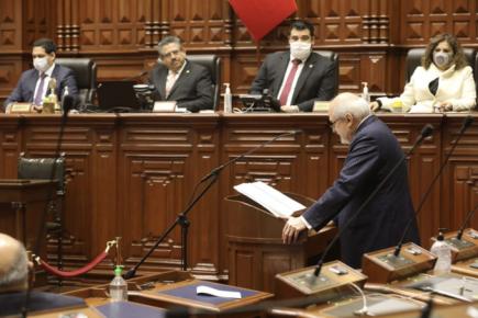 Congreso de la República niega voto de confianza a gabinete de Pedro Cateriano