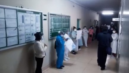 Arequipa: personal del hospital COVID disconforme con cambios en la jornada laboral