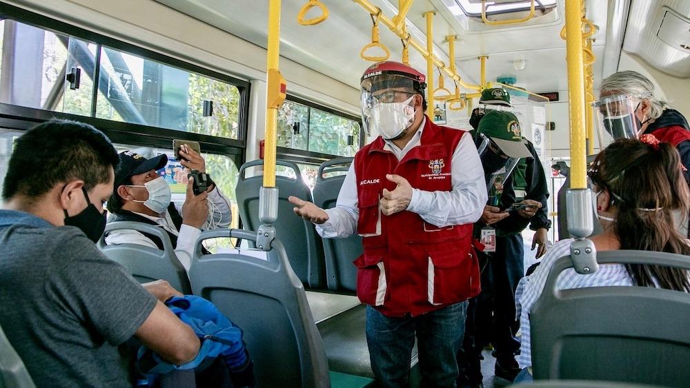 arequipa municipalidad provincial de arequipa aforo en buses coronavirus en arequipa