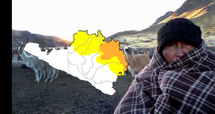 Arequipa: región sufrirá descenso de temperaturas hasta de  -18ºC