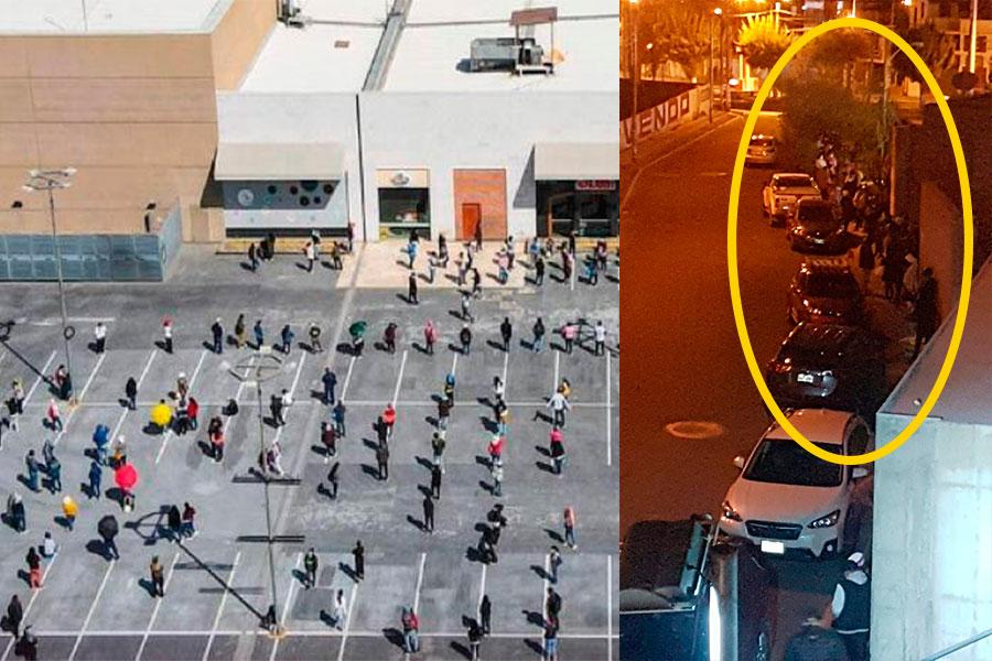 Arequipa largas colas en centros comerciales