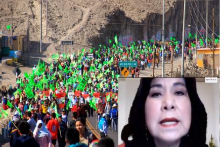 Martha Chávez: Vizcarra complotó en Arequipa para bajarse el proyecto Tía María