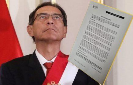 ACT: Congreso votará este viernes admitir la moción de vacancia contra Vizcarra
