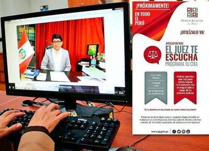"Poder Judicial capacitará a litigantes sobre aplicativo ""El juez te escucha"""