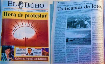 #Hace20Años Felipe Domínguez y sus «contactos» en el gobierno: Traficantes de lotes y votos en Arequipa