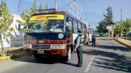 Arequipa: transportistas del SIT pasarán pruebas rápidas desde el 7 de octubre