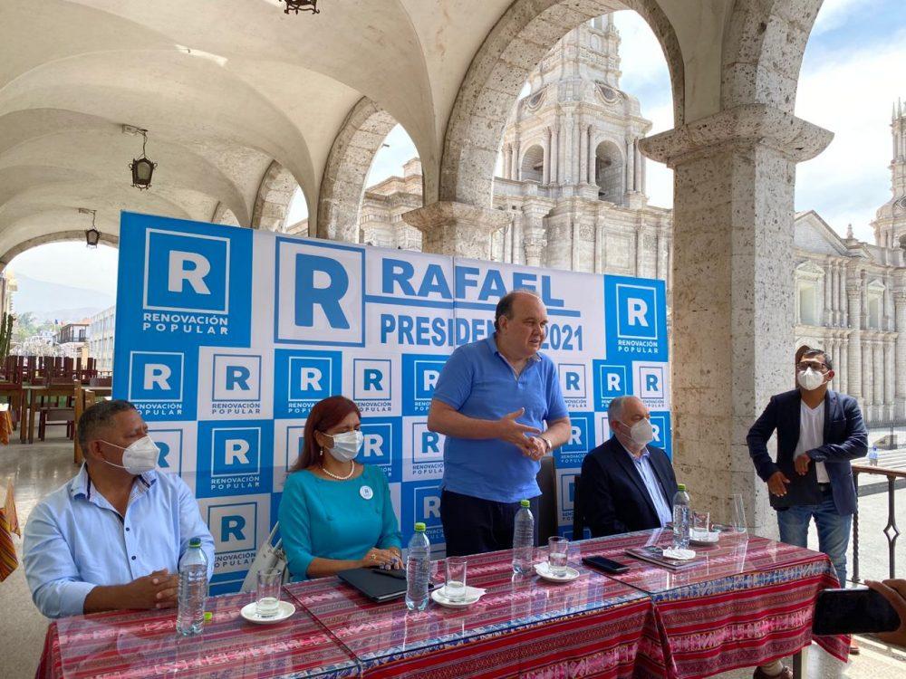 arequipa elecciones 2021 renovación popular solidaridad nacional rafael lópez aliaga