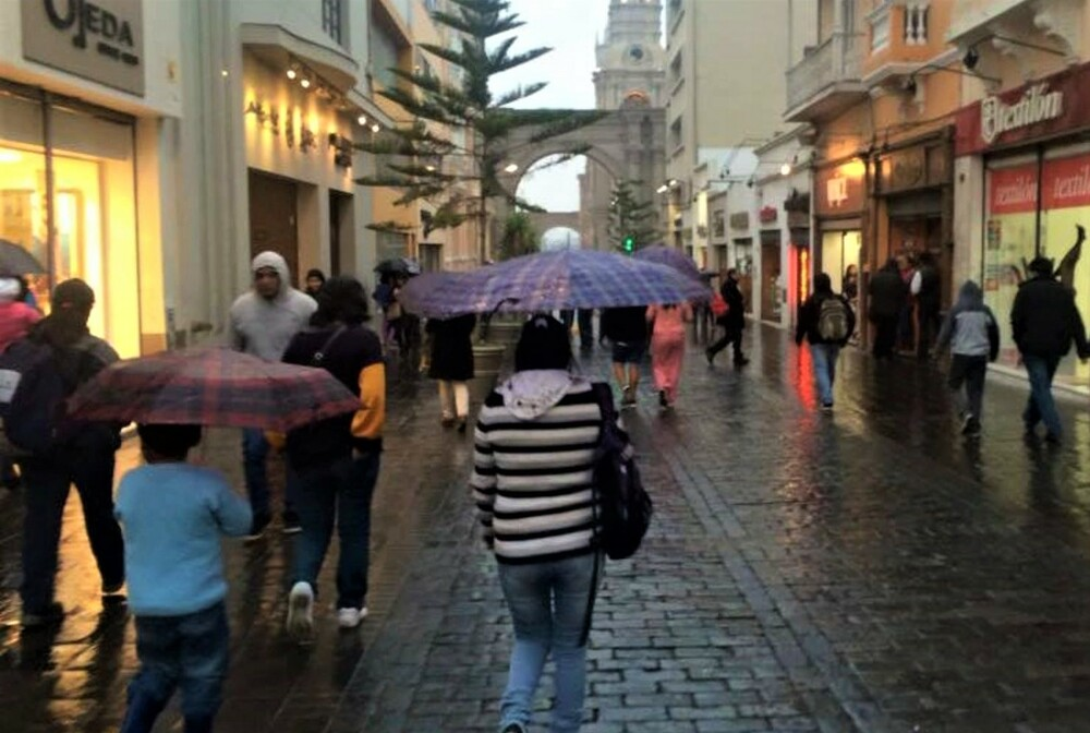 Lluvias en Arequipa.
