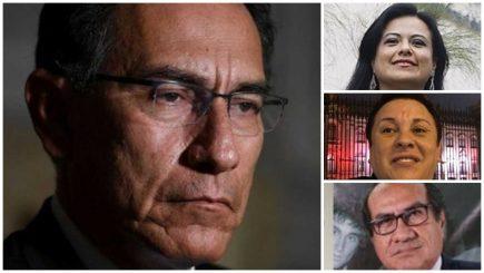 Exfuncionarios de confianza de Vizcarra terminaron con pedido de prisión preventiva