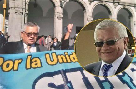 Arequipa: fallece secretario general del Sutep, Jesús Coa Marroquín