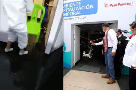 Cusco; hospital temporal inaugurado por Vizcarra se inundó por lluvias (VIDEO)