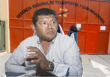 Cuestionado funcionario Luigui Mendoza, es nuevo gerente de Transportes