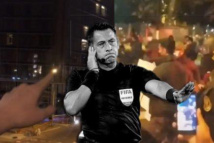 Hinchas peruanos indignados fueron a buscar al árbitro chileno hasta su hotel