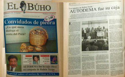#Hace20Años Los tapados de Rubén Terán: AUTODEMA fue su caja chica