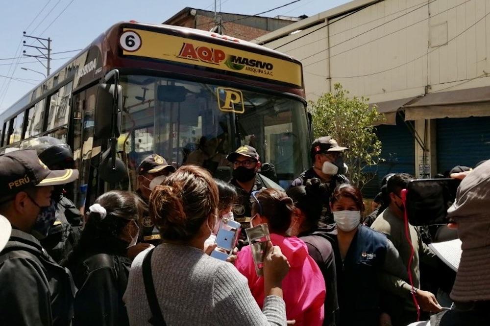 arequipa centro histórico sistema integrado de transportes sit protestas comerciantes san juan de dios