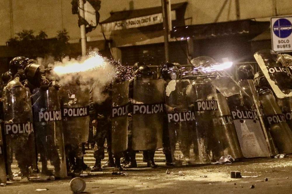 policías represión policial arequipa protestas ciudadanas