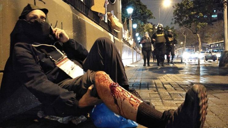heridos en manifestaciones