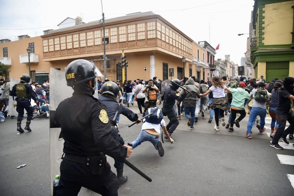 vocero de la pnp abusos policiales protestas ciudadanas