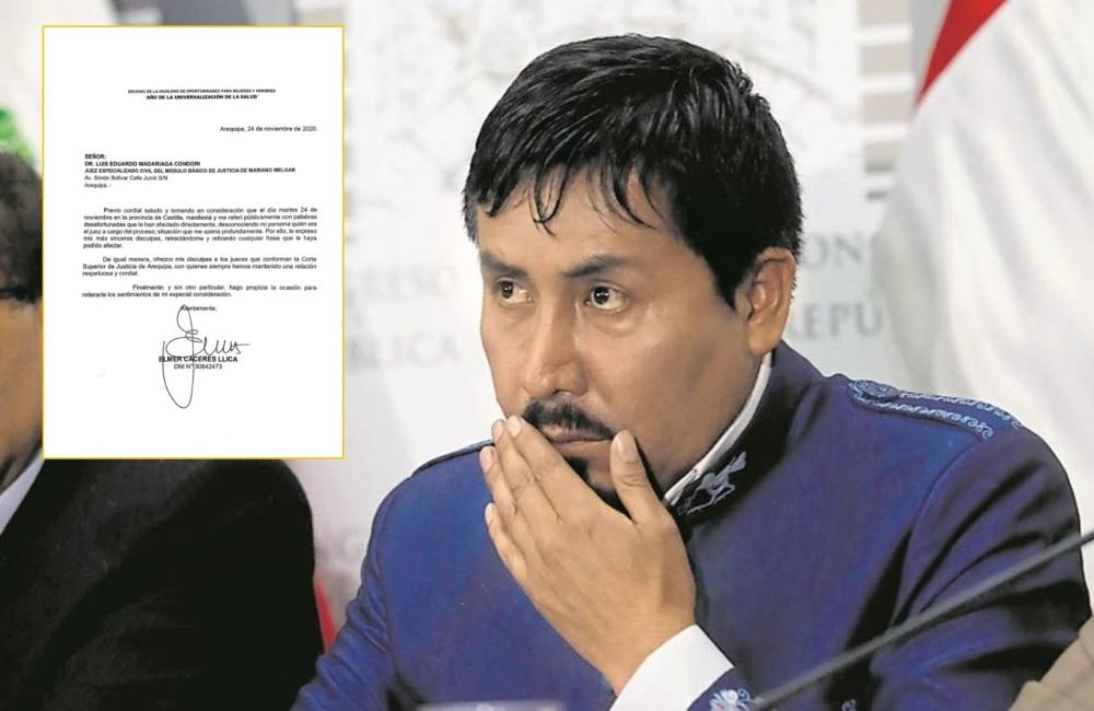 Gobernador de Arequipa se retracta y pide disculpas a juez Luis Madariaga
