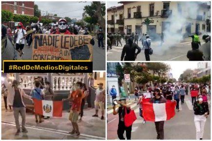 Regiones del país en desacuerdo con la vacancia de presidente Vizcarra