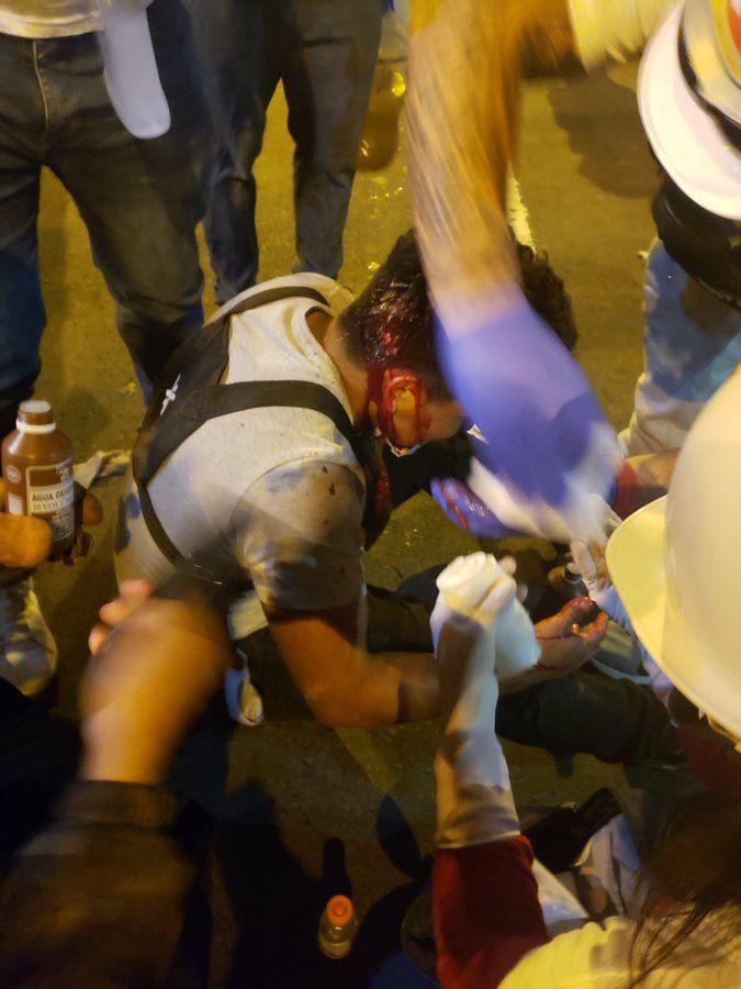 heridos marcha nacional
