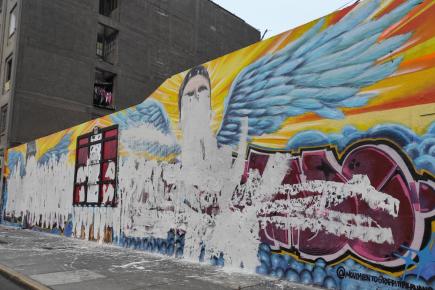Destruyen altar y murales en memoria de Inti Sotelo y Bryan Pintado (Fotos y Video)