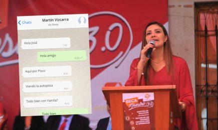 Yamila Osorio aparece en chats de Martín Vizcarra y José Hernández