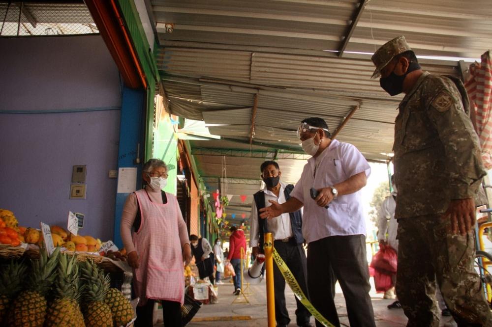 Comando Covid Arequipa supervisa mercados y detecta a 4 casos positivos