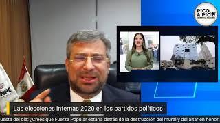 Pico a pico: Elecciones internas de partidos políticos 2020