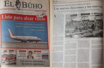 #Hace20Años: Arequipa, las nuevas elecciones y los nuevos opositores