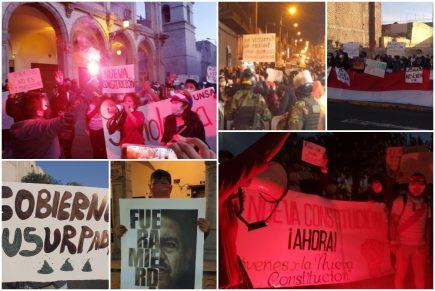 Así fue el tercer día de protestas por vacancia presidencial en Arequipa