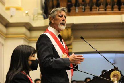 Presidente Francisco Sagasti: «Pido perdón a los jóvenes que marcharon por defender la democracia»