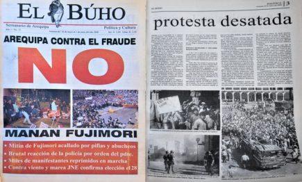#Hace20Años Arequipa contra el fraude: manan Fujimori