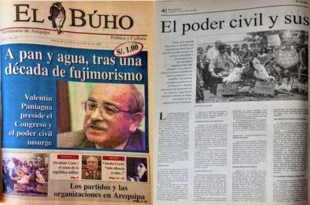 #Hace20Años Arequipa, el poder civil y sus organizaciones hacia las elecciones del 2001
