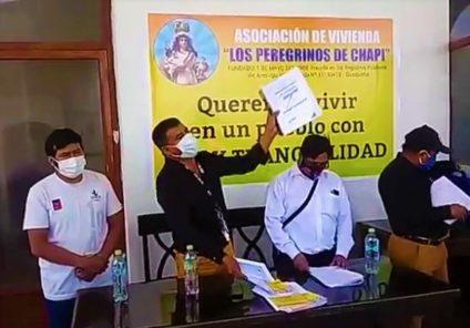 Quequeña: invasor de terrenos José Palomino protesta por nuevas invasiones