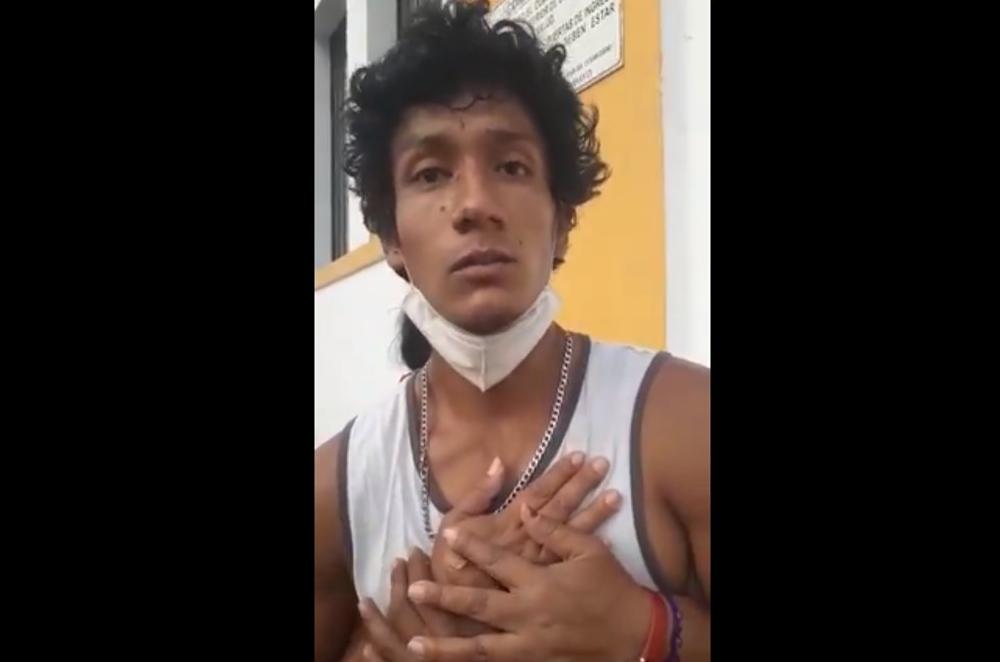 Apareció Luis Fernando Araujo Fernández que estuvo no habido desde la marcha contra Manuel Merino