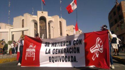 Arequipa: así se desarrolló la segunda Marcha Nacional en la ciudad blanca