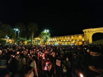 Día de marchas y vigilia en Arequipa por sucesos políticos en el país