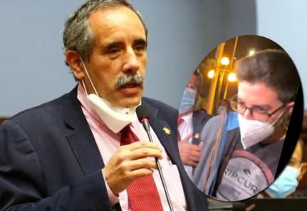 Congresista Ricardo Burga sufrió una agresión mientras declaraba a la prensa (VIDEO)