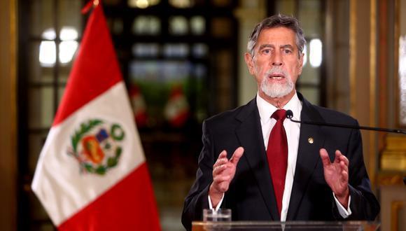 Presidente Sagasti: se suspenden vuelos desde Europa por dos semanas
