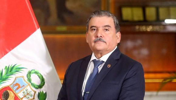 Fernando Aliaga , ministro del Interior